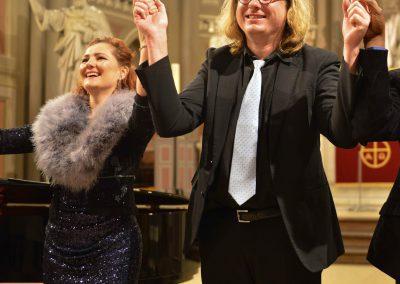 Christian Strauss mit Marina Russmann in der Marktkirche Wiesbaden