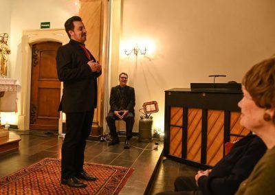 Neujahrskonzert St. Elisabeth Kapelle in Eltville -Alex Winn Trude Schmitz Folkmaris als Besucherin