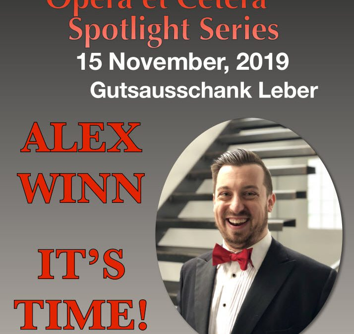 Spotlight Series mit Alex Winn –  It's Time! geht nach Mainz