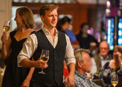 Philip de Roulet + Liz Magnor in Tallys Restaurant