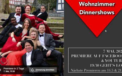 Online-Konzert Wohnzimmer Dinnershow