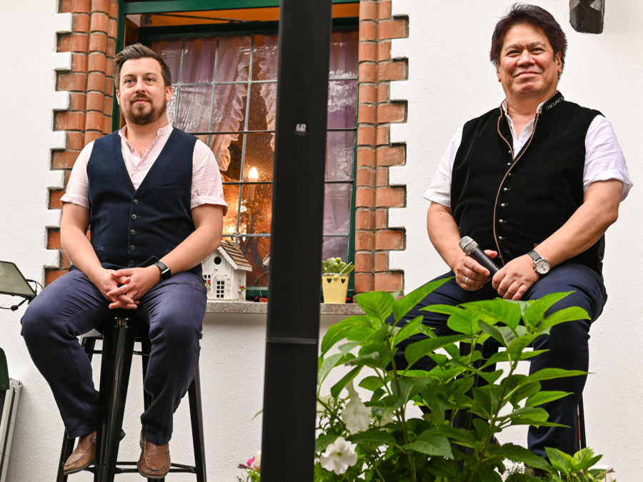 Alex Winn und Keith Ikaia-Purdy- Weinhaus Sinz August 2021